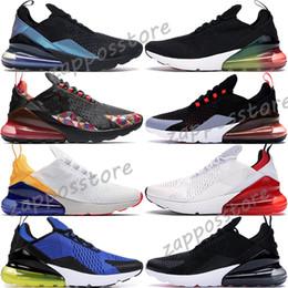 2019 talons aériens 2019 Nike Air Max 270 Throwback Future Pour Hommes Femmes CNY Rainbow Heel Warriors Philippines Triple Noir Blanc Sports Hommes Formateurs Designer Sneakers 36-45 talons aériens pas cher