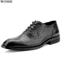 Comode scarpe da ginnastica da uomo di oxfords online-Big size 11 12 Fashion dressing Scarpe comode da uomo Scarpe da sposa in vera pelle da uomo oxford casual w4