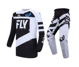 Bmx negro online-Fish Racing Black F-16 Jersey Pant Combo Tallas MX / ATV / BMX / MTB 2018 Riding Gear Motocross Dirt Bike Set