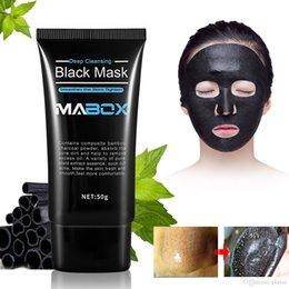 2019 massagem de cobre 2019 MABOX Carvão De Bambu Cravo Rasgando Máscara de Pasta Poros Limpeza Profunda Remoção de Acne Máscara Facial Preta