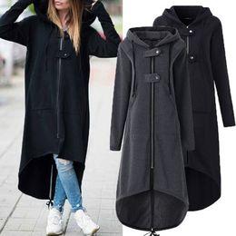chaquetas asimétrico abrigos para Botón largo diseñador otoño capucha invierno con suéter mujer abrigos cremallera para moda con de mujer abrigos de e LqMGpVSUz