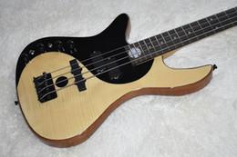 2019 chitarre basse a sinistra Spedizione gratuita Custom Factory Left Handed basso elettrico con 5 corde, modello Taiji, impiallacciatura di acero fiamma, di alta qualità, può essere personalizzato chitarre basse a sinistra economici