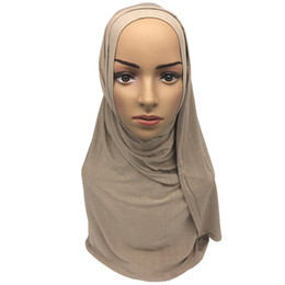 Jinjin.QC Musulman Hijab Jersey Hijab Bandana Femmes Foulards et Écharpes Echarpe Foulard Femme Drop Shipping ? partir de fabricateur