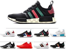 2019 r1 para barato 17-colores baratos R1 X BEES PK Primeknit hombres mujeres zapatos para correr Classic Japan Triple Black white Beige Oreo zapatillas deportivas de lujo 5.5-11 rebajas r1 para barato