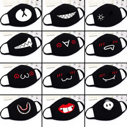 weiße gesichtsmasken für erwachsene Rabatt Party Anime Cute Bear Maske Erwachsene Kinder Spaß Abendkleid Lower Half Face Mouth Muffel Wiederverwendbare Staub Warm Maske Winddichtes Cotton schwarz weiß Maske