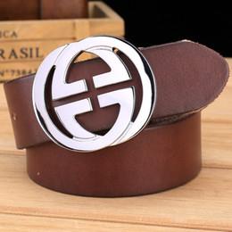 2019 cinturones para hombre de cuero macizo Cinturón para hombre de hebilla de latón macizo Cinturón de diseño de lujo para hombres de alta calidad 100% cuero genuino de grano completo color camel marrón cinturones para hombre de cuero macizo baratos
