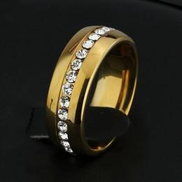 faixas de casamento famosas Desconto Famosa Marca clássico 6mm cor de ouro CZ diamante banda anéis Wedding Band amantes Anel para Mulheres e Homens