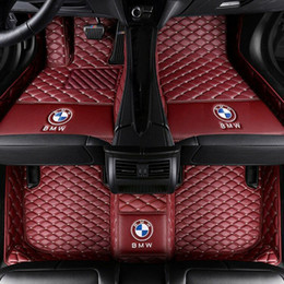 Carro mat impermeável couro on-line-Para Fit Floor Mats FloorLiner Para BMW X5 2008-2018 PU couro All-Weather Waterproof impermeável pad Carpet Car