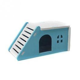Argentina Mascota Hamster Casa Cama Jaula Nido Erizo Conejillo de Indias Castillo de madera Juguete Suministro