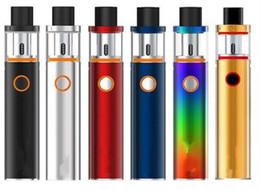 pluma 22 Rebajas Vape Pen 22 Kits de inicio 1650 mah Batería 0.3ohm Dual Core Vape Pen stick 22mm Tanque todo en un Cigarrillo E