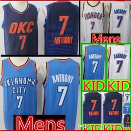 a0d8dbb9f3f 2019 youth basketball jersey Economici Carmelo 7 Anthony Basketball Jerseys  Mens Oklahoma Kids City Thunder Jersey