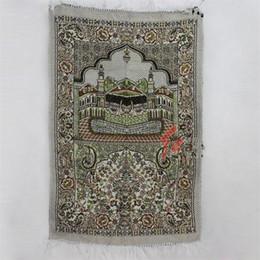 Alfombras musulmanas online-110 * 70 cm Islámica Musulmana Estera de Oración Geometría Tapis Alfombra Grande Impresión Alfombras de la Sala de estar de Oración Venta Caliente 5yx E1