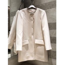 Importé de l'acétate de tissu d'acétate décolleté perlé veste 2019 début de l'automne haut manteau rose de haute qualité des femmes ? partir de fabricateur