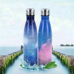 бутылки с водой зеленого цвета Скидка Бутылка из нержавеющей стали с вакуумной изоляцией Горячая вода Напитки Бутылка Термос Термос