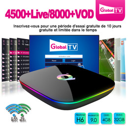 arabic channel iptv box Promo Codes - Q Plus Android 9.0 TV Box 4G 32G Smart TV Box With 1-year IPTV Subscription For Portugal Algerie France Arabic Italia Channel IPTV Box