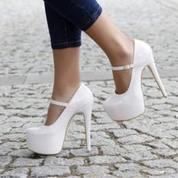 hermosos zapatos altos Rebajas Zapatos SHOFOO, envío libre de moda hermosa, tela Pu, zapatos de tacón alto para mujer de 14.5 cm, redondos hasta bombas e. TAMAÑO: 34-45