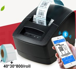 print bar codes Promo Codes - 2 inch thermal bar code QR code label printer high quality clothing tags supermarket price sticker 2 in 1 printing printer