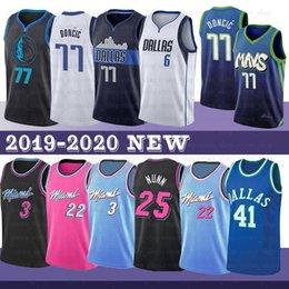 dirk nowitzki Desconto 3 Dwyane Wade NCAA Jersey Jimmy 22 Butler Homens Luka 77 Doncic Kristaps 6 Porzingis Dirk Nowitzki 41 Basketball Jerseys