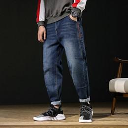 5c0964f269 Nuevos Jeans para hombre de algodón Tallas grandes flojas cónicas Harem  Jeans Algodón transpirable pantalones de mezclilla hombres Baggy Jogger  pantalones ...