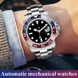 Relógio digital a prova d'água digital a prova de inox on-line-2019 relógios de homens baratos relógios mecânicos automáticos do calendário relógios de pulso luxuosos impermeáveis dos homens de aço inoxidável do negócio da forma