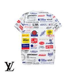 camisetas mezcla algodón poliéster Rebajas 19SS Moda Hombre Camisetas Manga corta Mezcla de algodón Diseñador transpirable para verano Poliéster Top de lujo Blanco y negro Al por mayor uukeh