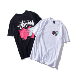 world t shirts brands Promo Codes - 2019 spring and summer street fashion brand men and women couple short-sleeved t-shirt world parade splash ink loose half-sleeved shirt