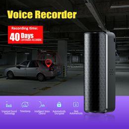 Gravador de voz de espião de áudio on-line-Dispositivo de gravação de espionagem de 16GB Gravador de voz ativado Mini áudio magnético