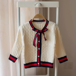 Cardigan de moda coreano online-Niñas cardigans Edición coreana Ropa para niños Suéter para niños Moda viento 2018 ropa para niños