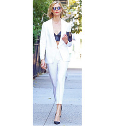Женские формальные блейзеры онлайн-Pant Suits womens business suits New Elegant 2 piece set women Formal Blazer With Pants Work Wear for Ladies