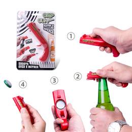 2019 pistolets à feu Coup de feu Ouvre-Bouchon Créatif Volant Bonnet Bouteille Ouvre-bière Tireur Drôle Cuisine Outils LJJA2274 promotion pistolets à feu
