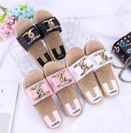 Zapatillas bohemias online-Mujeres sandalias de verano zapatillas Bohemian Slip On Pisos zapatos casuales sandalias de verano unisex sandalias de playa LJJK1657