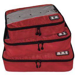 Cubes d'emballage en Ligne-Emballage Cubes pour Voyage 3pc Set Slim Emballage Bagage Organisateurs De Voyage Sacs Pochette De Stockage En Nylon