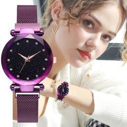 2019 de alta qualidade moda sexy mulheres relógio de pulso de luxo assistir rose gold lady relógio de pulso marca de mesa de quartzo ímã de bloqueio relojes de marca mujer cheap roses sexy de Fornecedores de rosas sexy
