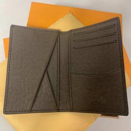 a25371919 Excelente Qualidade Organizador de Bolso NM damier grafite M60502 mens Real  carteiras de couro titular do cartão N63145 N63144 bolsa carteira id bifold  ...