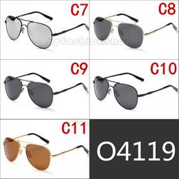 cor quadros de prata Desconto Elmot prateado quadro piloto óculos de sol de lazer óculos polarizados sapo liga quadro multi-cor opcional UV óculos de sol para homens e mulheres
