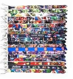 Karikatür Cep Telefonu İpi Avengers Demir Adam Süper Kahraman Charms Sapanlar iPhone 8 Için artı mobil kart seti sapan halat nereden