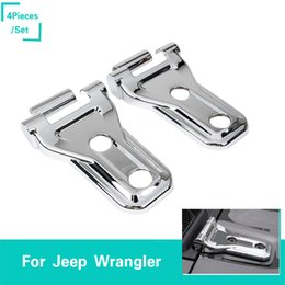 Argentina ABS Plata Bisagra De La Puerta Decoraion Brillante B Para Jeep Wrangler JL 2018 Factory Outlet High Quatlity Auto Exterior Accesorios cheap hinge accessories Suministro