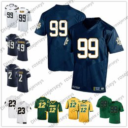36f2e1454 Discount notre dame jerseys - 2019 Notre Dame #99 Jerry Tillery White Drue  Tranquill NDSU