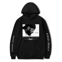 hoodie branco liso Desconto Lembrança Hoodies para nipsey hussle Rapper Americano Com Capuz Pullovers 3D Letras Designer Camisolas