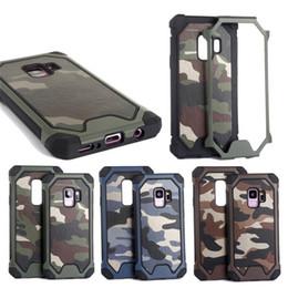 funda protectora de camo iphone Rebajas Camo Armor Camouflage Soft TPU funda protectora para teléfono celular para iPhone 6 6S 7 Plus XS Max XR Samsung S9 S10 Plus