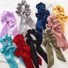 I titolari dei capelli online-20 stili vintage capelli scrunchies arco floreale solido fasce per capelli cravatte scrunchie ponytail holder corda dei capelli delle donne decorazione accessori GGA2324