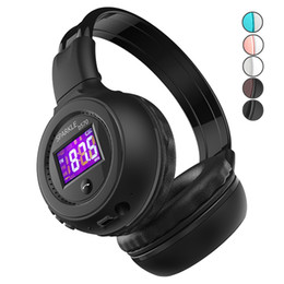 Mikro-radio-hifi online-B570 Bluetooth Kopfhörer Faltbare Hifi Stereo Wireless Kopfhörer Mit LCD Display Headset FM Radio Micro-SD Slot