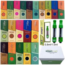 Velas para cera on-line-Magnetic Smart Box Carrinho Vape cartuchos embalagem Smartbud 0,8ml 1ml 510 Ceramic vazio Vape Pen Carrinhos Grosso Oil Wax vaporizador E Cigarette