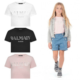 Ropa para niños online-Diseñador de Balmain niños muchachos de la ropa de bebé de diseño infantil Boy ropa del bebé ropa de la muchacha niños de lujo Manga Corta