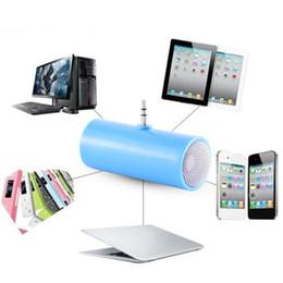 mp3 directo Rebajas 3.5 mm de inserción directa Mini altavoz estéreo Micrófono Altavoz portátil Reproductor de música MP3 para teléfono móvil Tableta PC