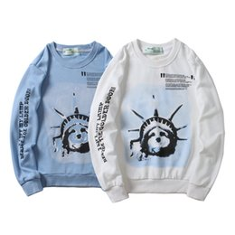liberty print Coupons - New Hot Sale Liberty Torch High Quality Printed Men's Wear Popular Logo Outerwear Pure Cotton Statue of Liberty Hoodies