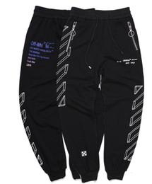 2019 roupas esportivas de moda Calças dos homens novo casual hip hop moda calças calças esportivas rua popular roupas urbanas listras jogging sweatpants branco desconto roupas esportivas de moda