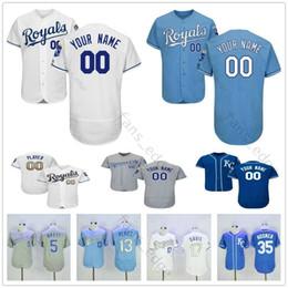 d07f1ef8e Custom Mens Stitched  11 Moustakas 13 Salvador Perez 15 Whit Merrifield  Willie Wilson Men Women Kids Youth Baseball Jerseys