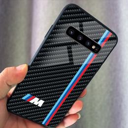 2019 tarjeta g3 El vidrio templado TPU de lujo del logotipo de la caja del teléfono serie de BMW M para Samsung Galaxy Nota 10 S9 S10 Plus note9 S10 + S10 Lite casos
