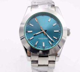 Ver réplicas online-Ventas calientes hombres de lujo reloj Roles MILGAUS 40mm Mans modelo de reloj automático 116400GV réplicas de relojes royal pam modelo 05